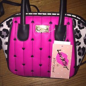 Betsey Johnson Hot Pink LB Quinn Satchel